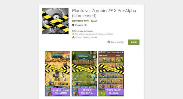 "Play Free PLANTS vs ZOMBIES 3 (Pre-Alpha)"" class="