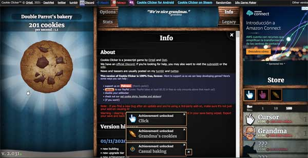 Play Free COOKIE CLICKER Online