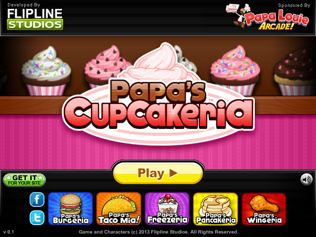 PAPAs CUPCAKERIA FREE GAME at gameplaymaniacom